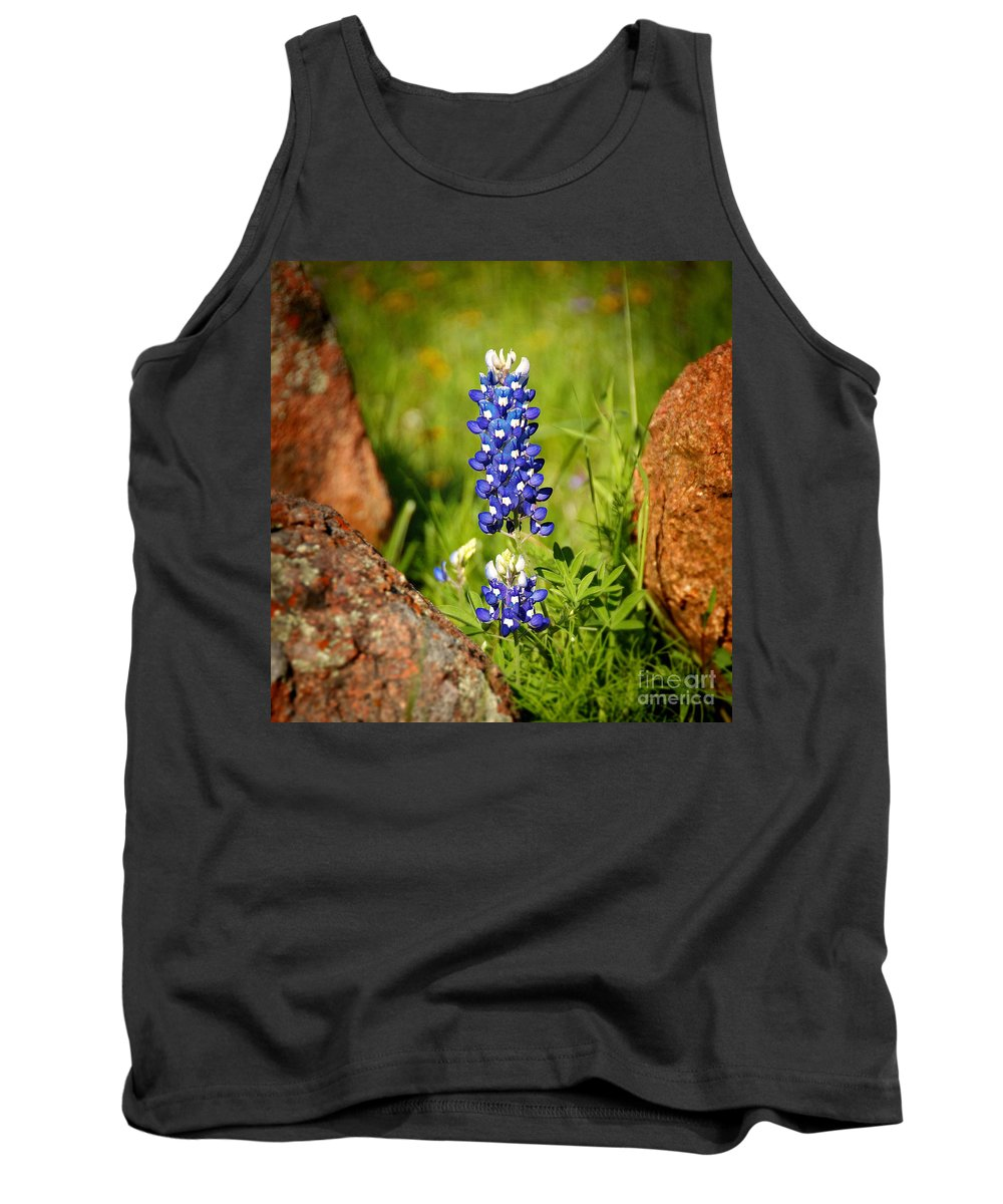 Landscape Tank Top featuring the photograph Texas Bluebonnet by Jon Holiday