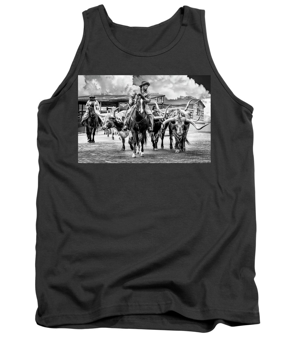 Texas Tank Top featuring the photograph Texas Longhorns by Kelley King