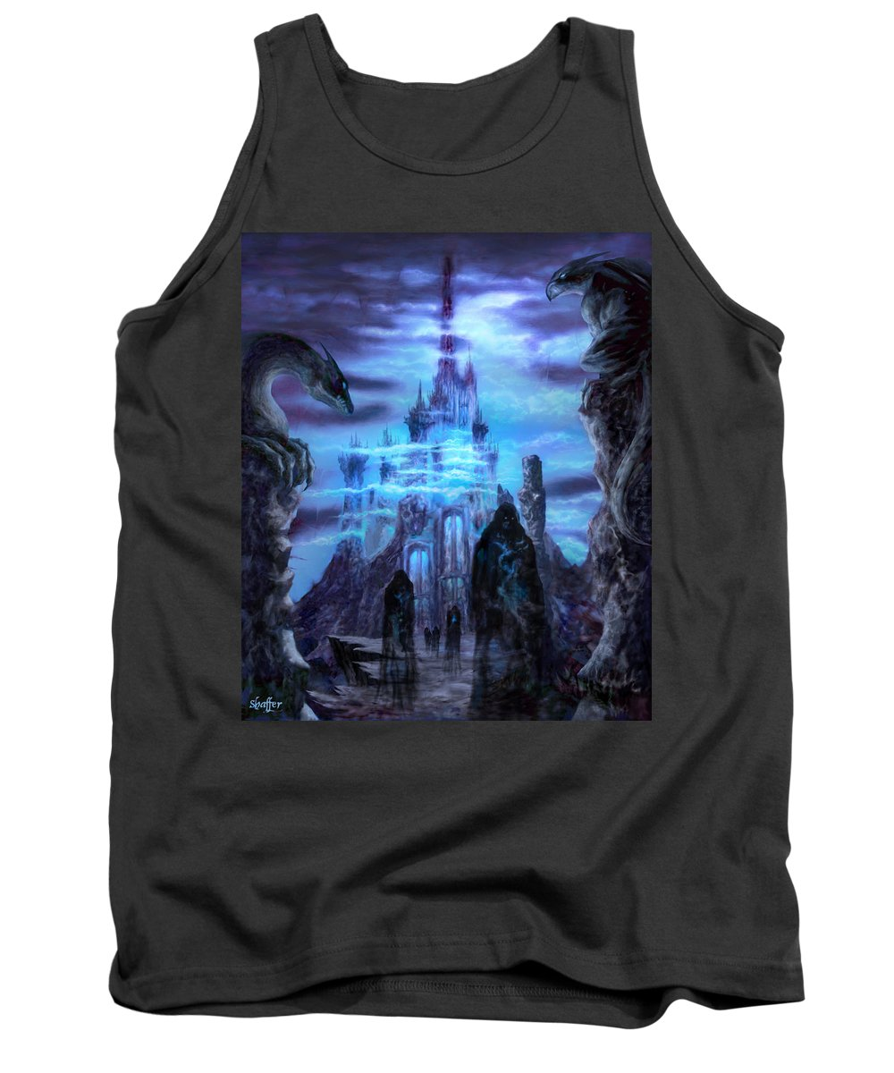 Tolkien Tank Top featuring the mixed media Thangorodrim by Curtiss Shaffer