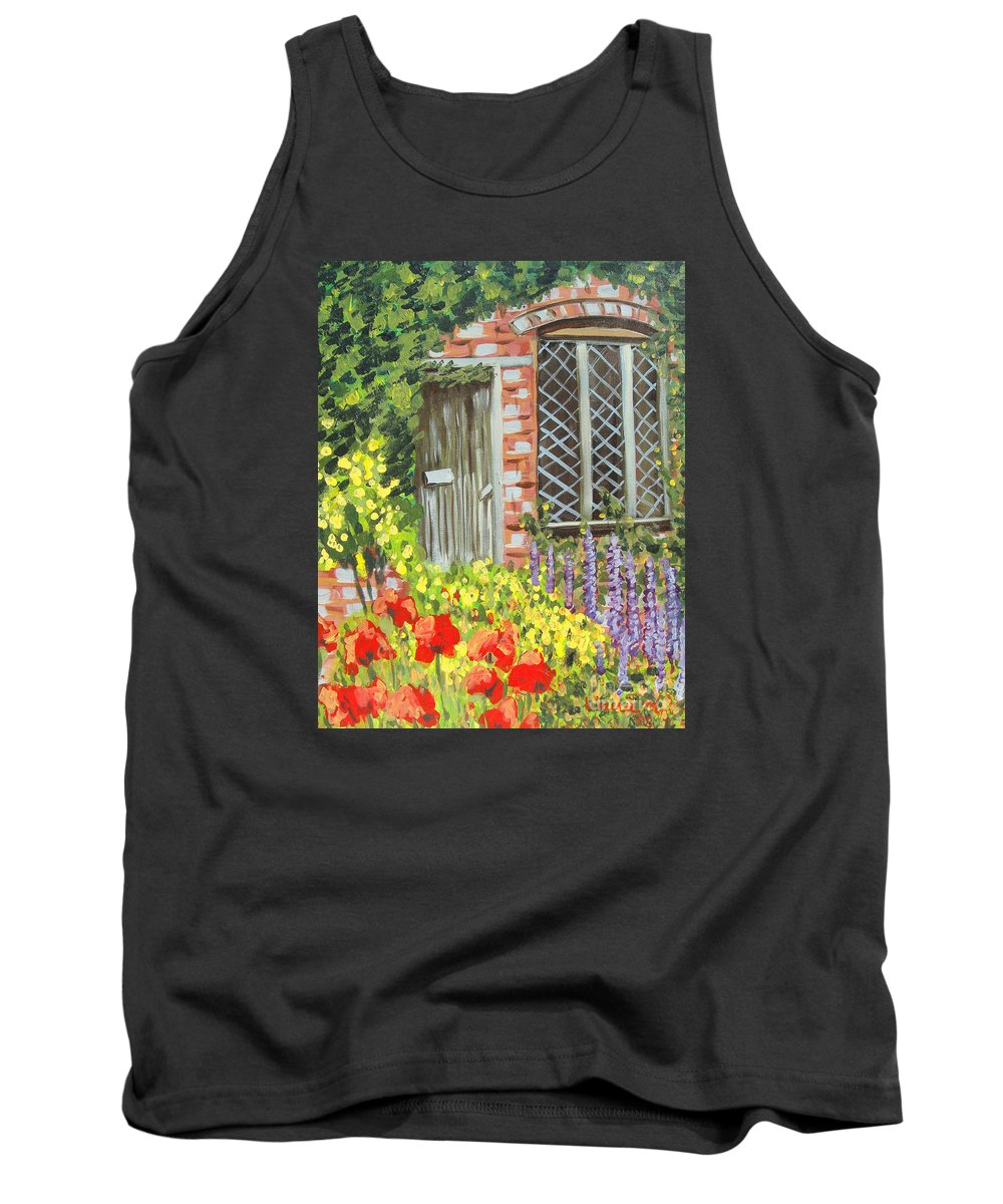 Windows Tank Top featuring the painting The Artist's Cottage by Laurie Morgan