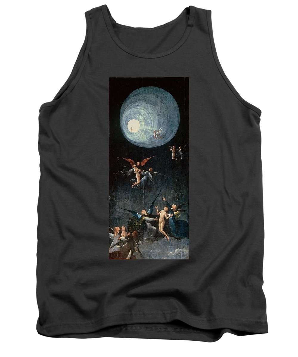 Arthropod Tank Top featuring the digital art The Ascent Of The Blessed Hieronymus Bosch by Eloisa Mannion