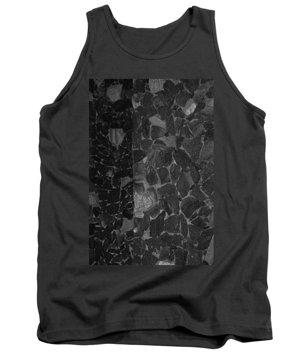 Black And White Tank Top featuring the photograph The B And W Wall by Rob Hans