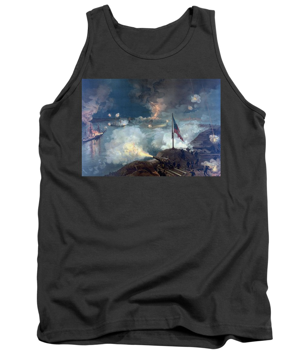 Civil War Tank Top featuring the painting The Battle Of Port Hudson - Civil War by War Is Hell Store