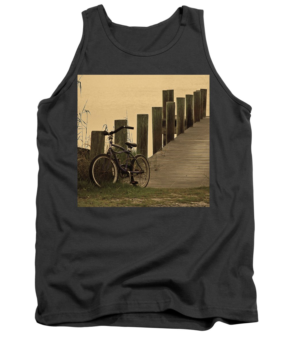Bike Tank Top featuring the photograph The Beach Comber by Robert Meanor