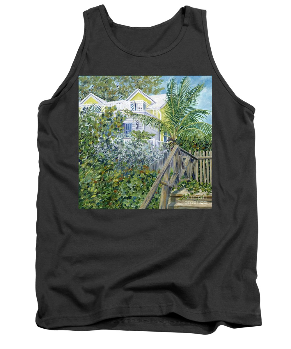 Beach House Tank Top featuring the painting The Beach House by Danielle Perry