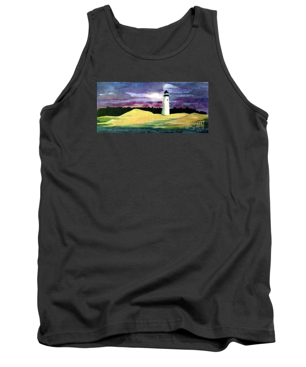 Fine Art Tank Top featuring the painting The Beacon by Patricia Griffin Brett