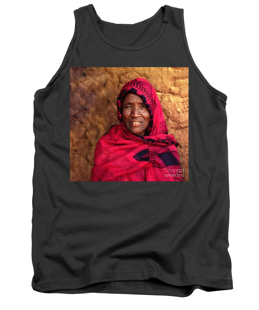 People Tank Top featuring the photograph The Beautiful Granny by Morris Keyonzo