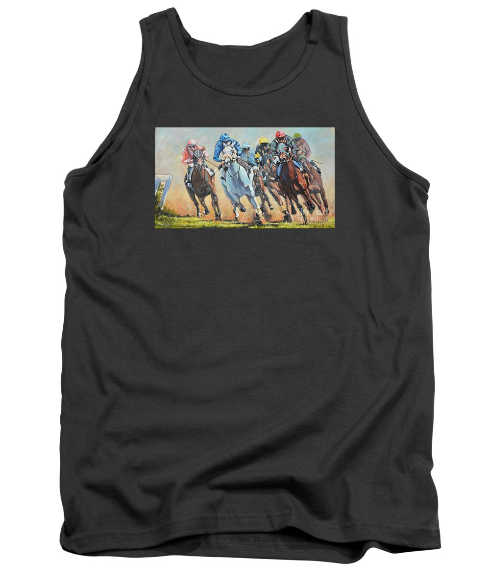 Tank Top featuring the painting Power And Grace by Jeffrey Samuels
