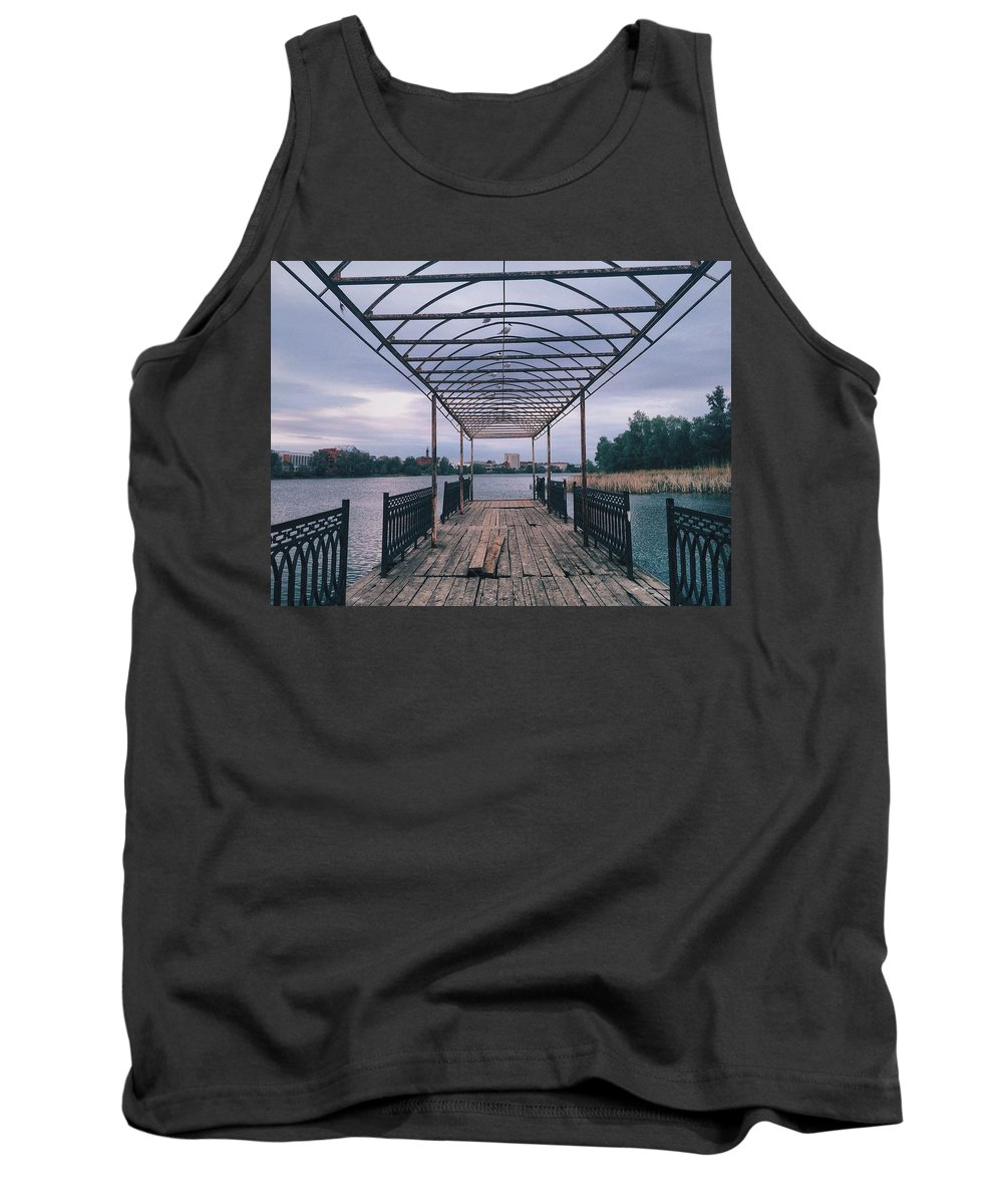 Landskape Tank Top featuring the photograph The Berth by Alisa Suleymanova