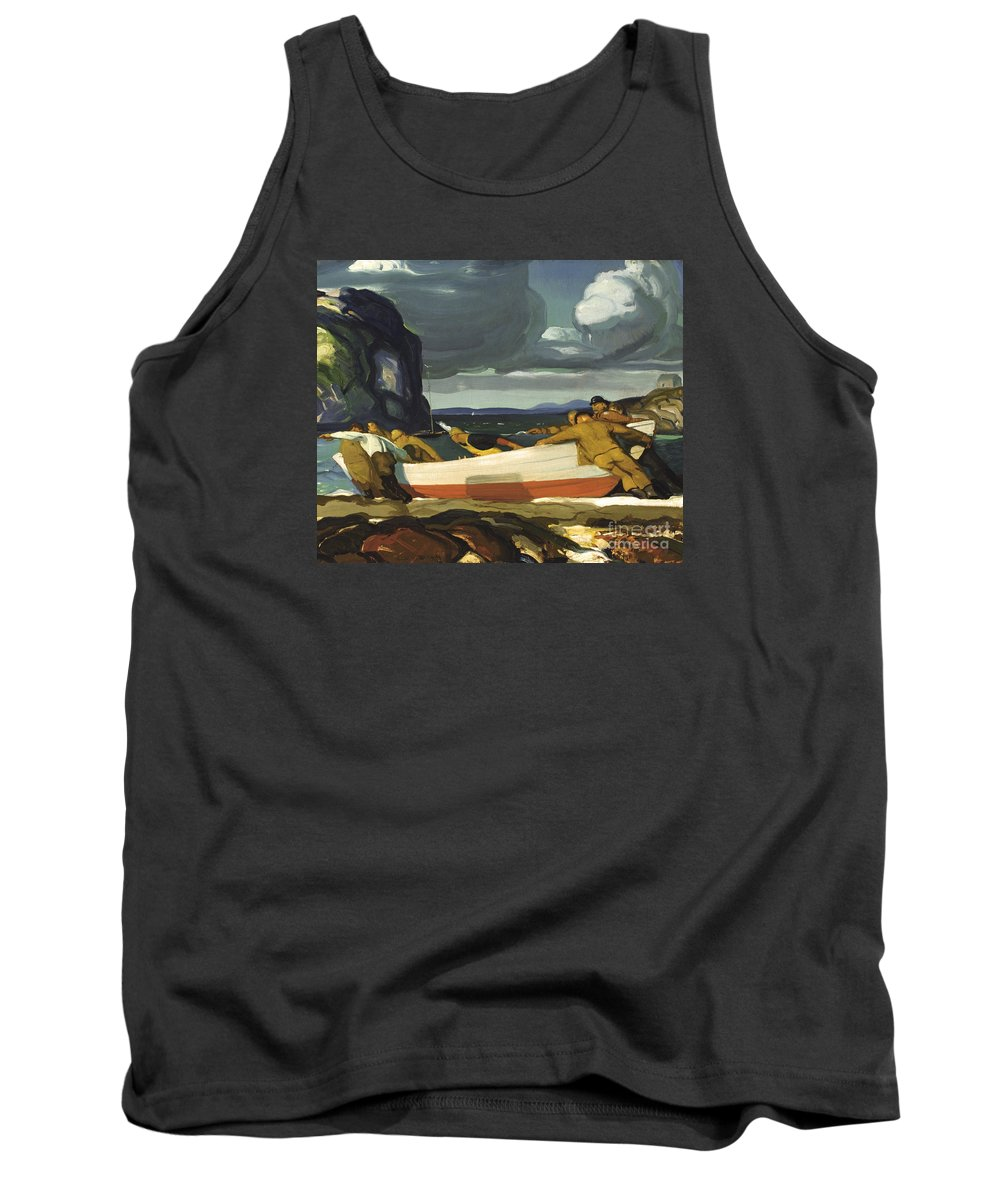 George Wesley Bellows (1882 � 1925) Tank Top featuring the painting The Big Dory by MotionAge Designs