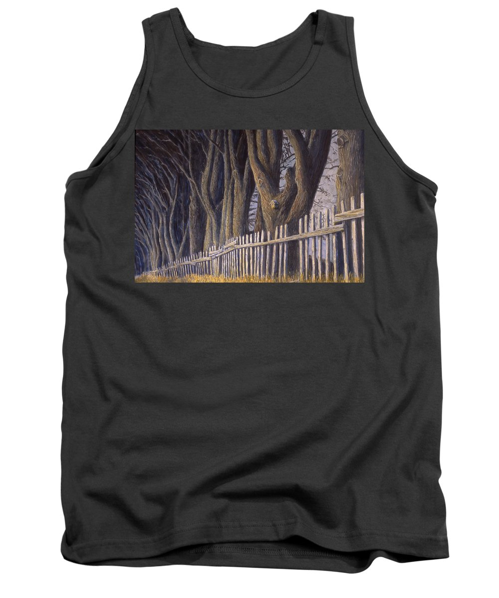 Bird House Tank Top featuring the painting The Bird House by Jerry McElroy