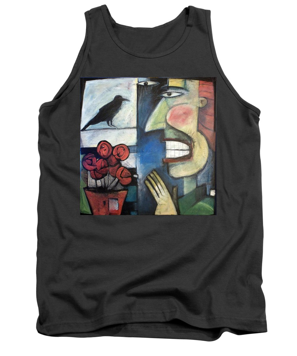 Bird Tank Top featuring the painting The Bird Watcher by Tim Nyberg