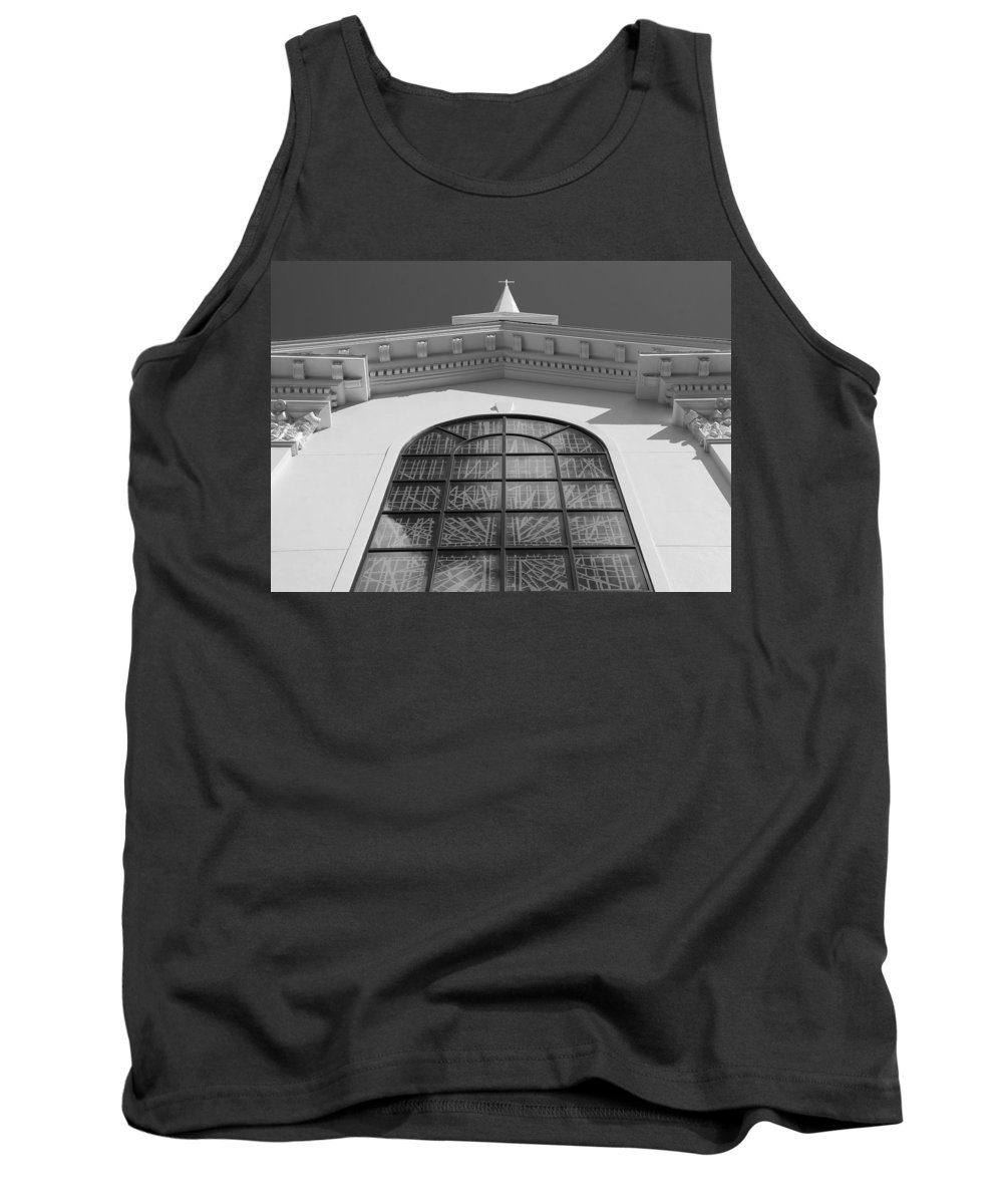 Church Tank Top featuring the photograph The Black And White Church by Rob Hans