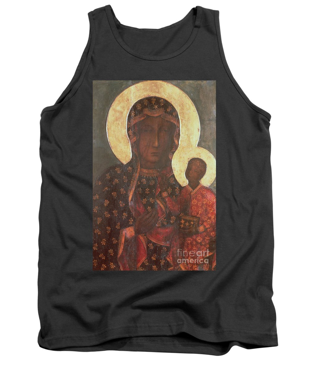 The Tank Top featuring the painting The Black Madonna Of Jasna Gora by Russian School
