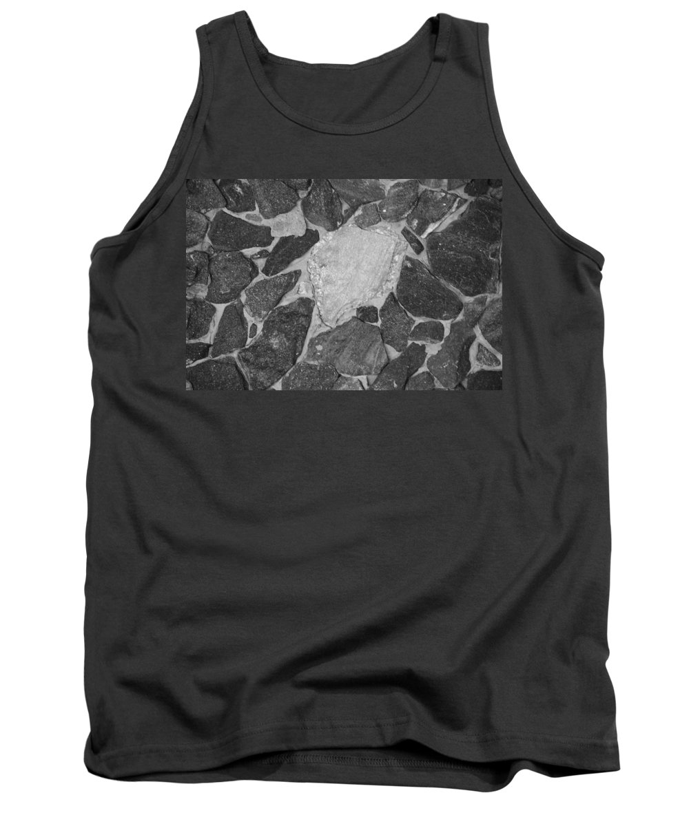 Black And White Tank Top featuring the photograph The Black Wall by Rob Hans