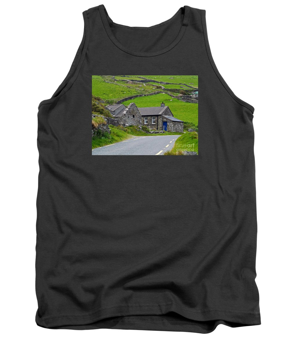 Fine Art Photography Tank Top featuring the photograph The Blue Door by Patricia Griffin Brett