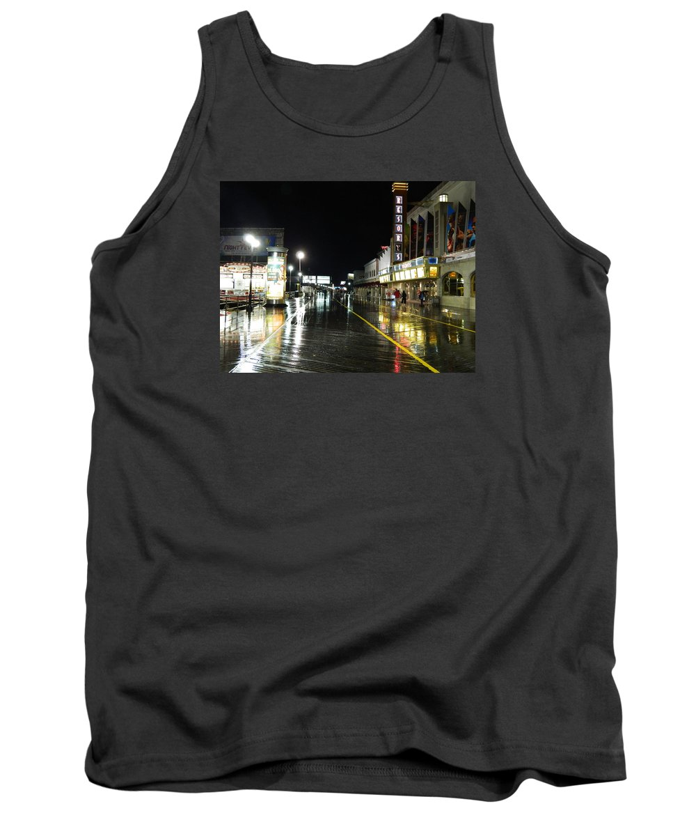 Atlantic City Tank Top featuring the photograph The Boardwalk At Night by Arlane Crump