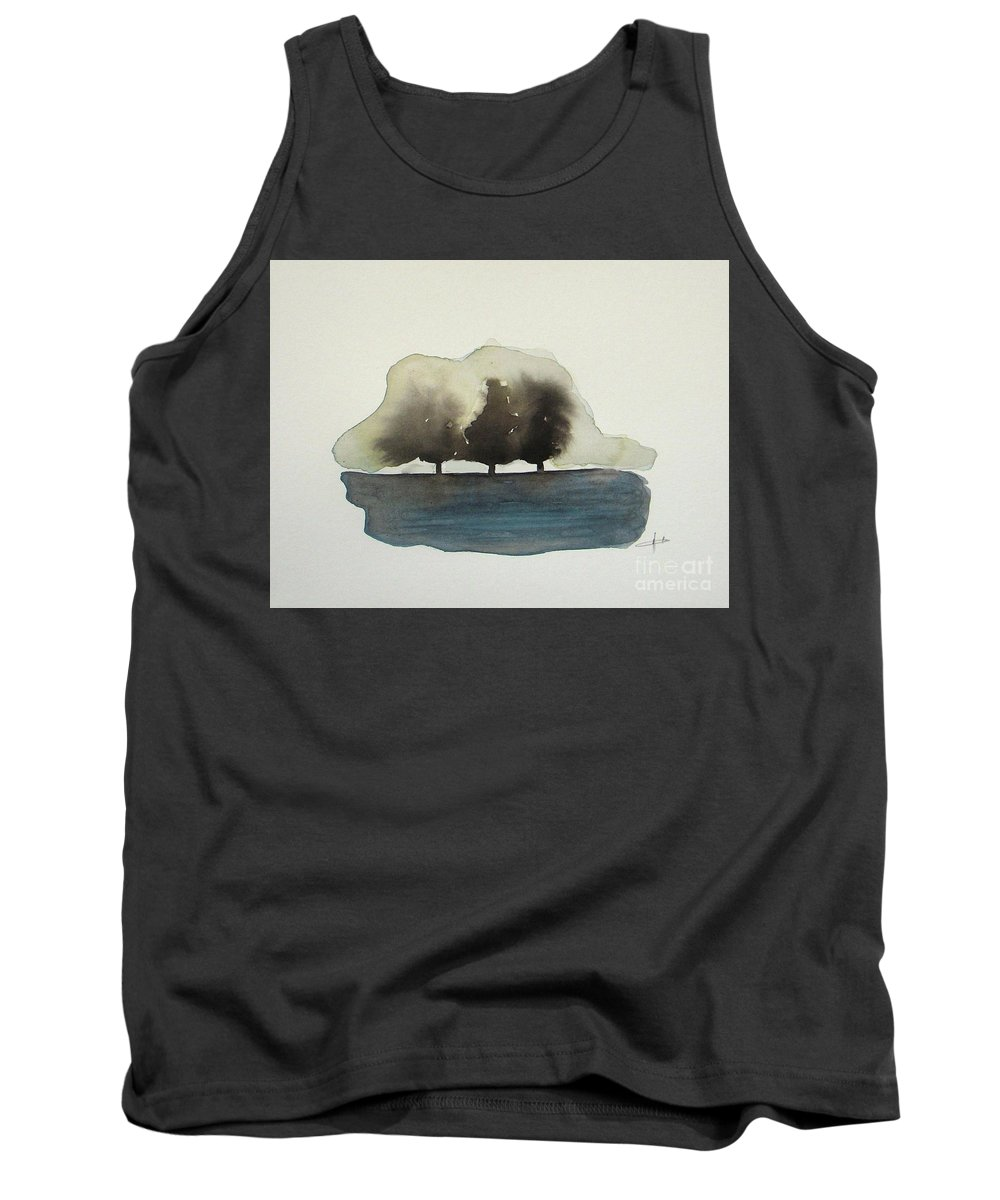 Abstract Tank Top featuring the painting The Breeze by Vesna Antic