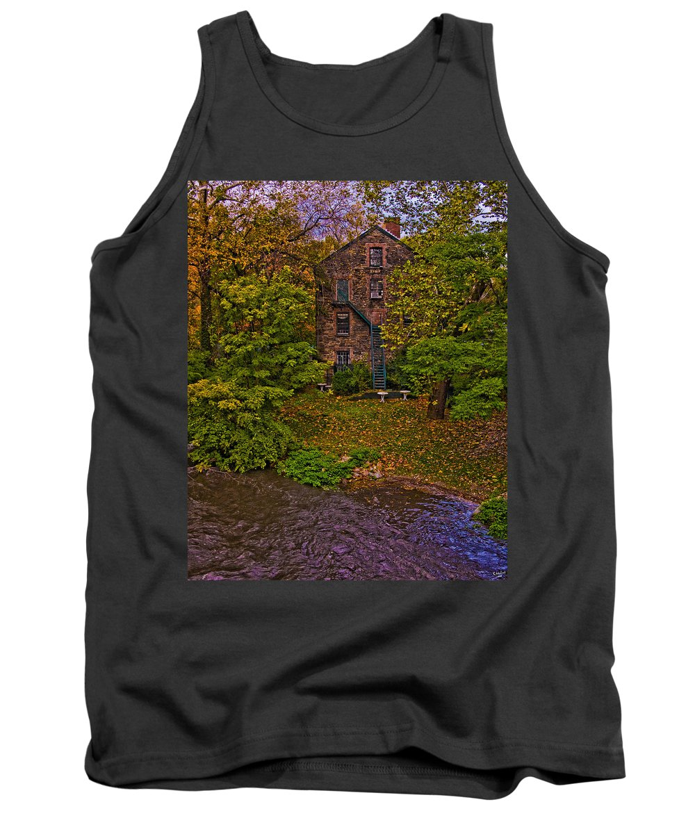 Mill Tank Top featuring the photograph The Bronx River Stone Mill by Chris Lord