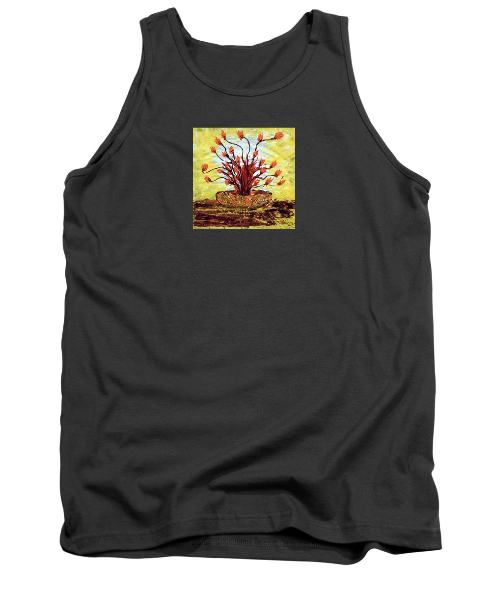 Impressionist Painting Tank Top featuring the painting The Burning Bush by J R Seymour