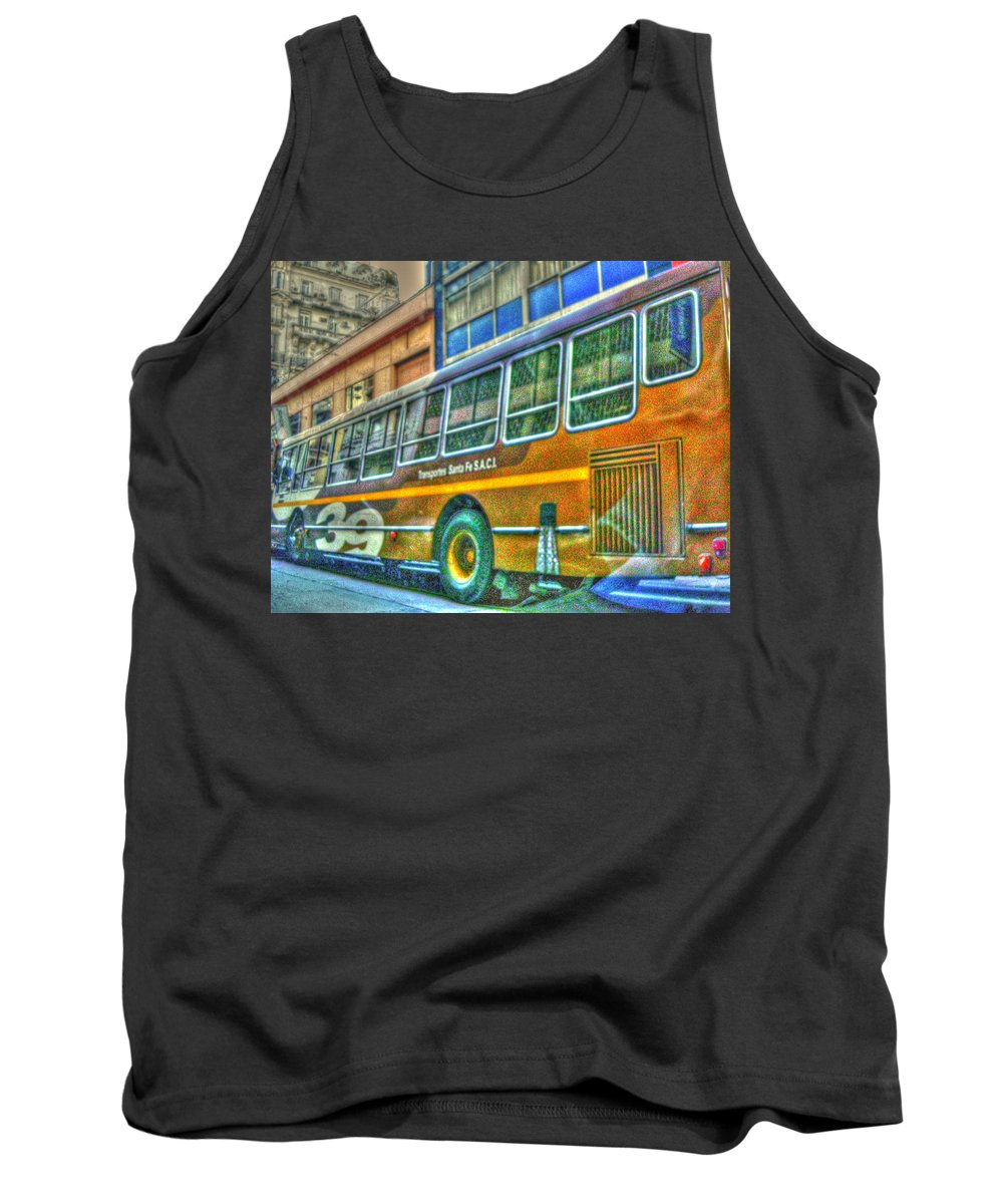 Bus Tank Top featuring the photograph The Bus by Francisco Colon