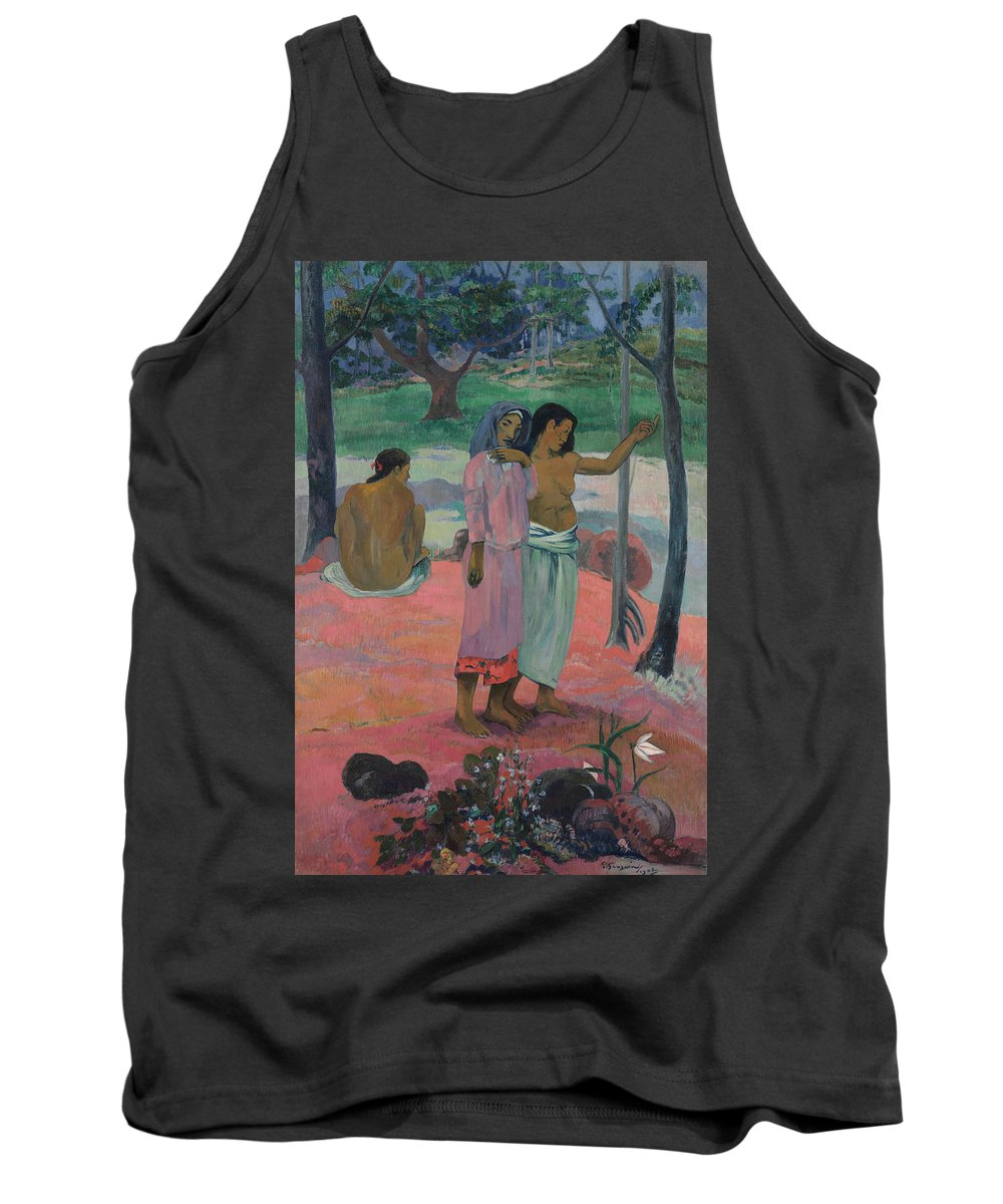 The Call Tank Top featuring the painting The Call by Paul Gauguin