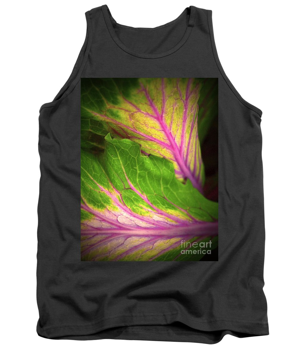 Leaves Tank Top featuring the photograph The Caress by Tara Turner