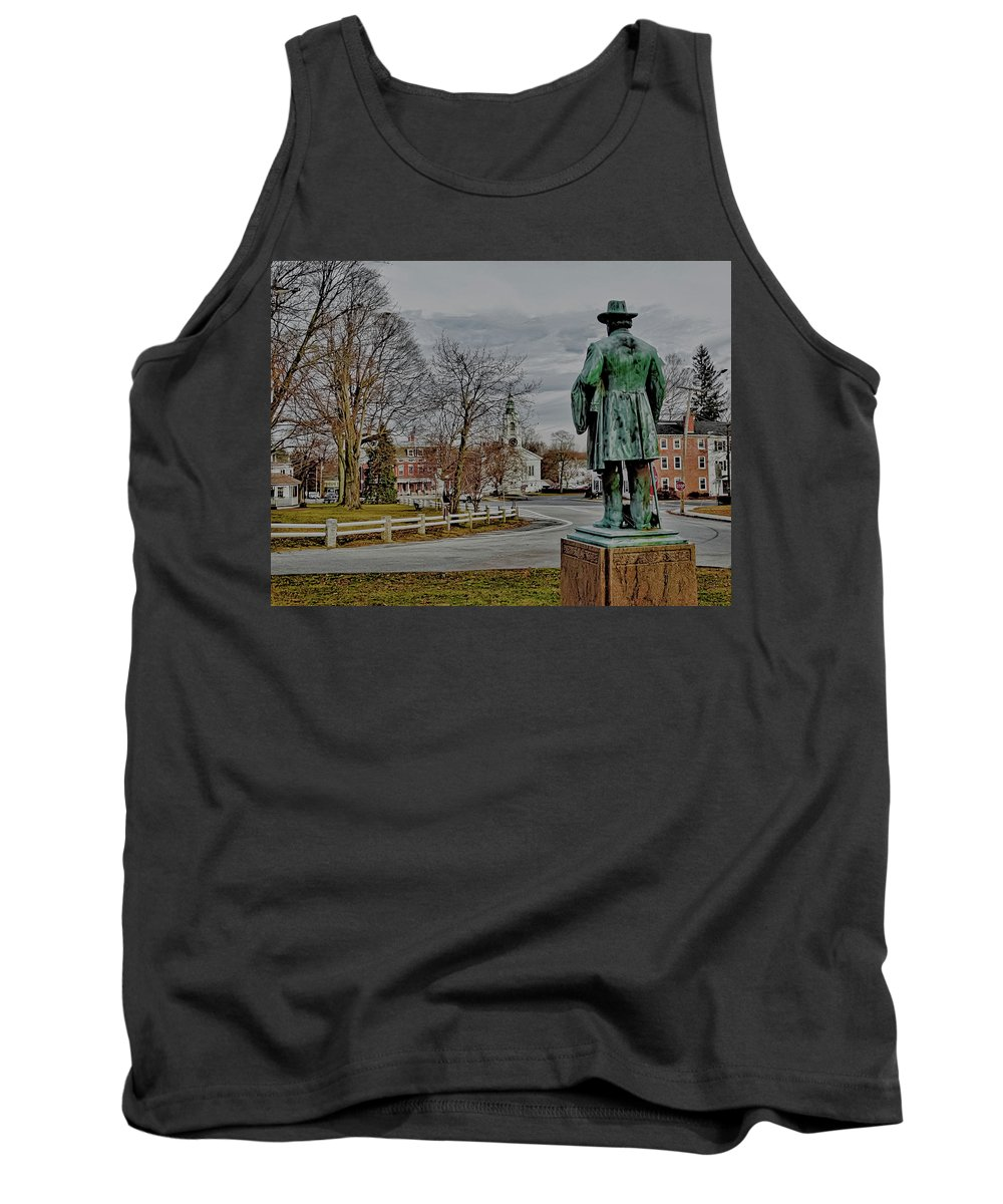 Grafton Tank Top featuring the photograph The Center Of Grafton Ma by Bill Dussault