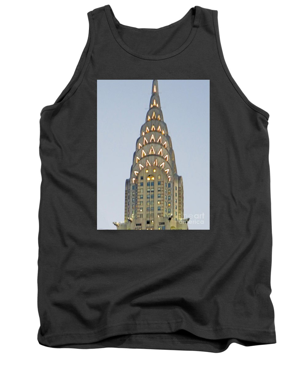 Chrysler Building Tank Top featuring the photograph The Chrysler At Dusk by Rick Locke