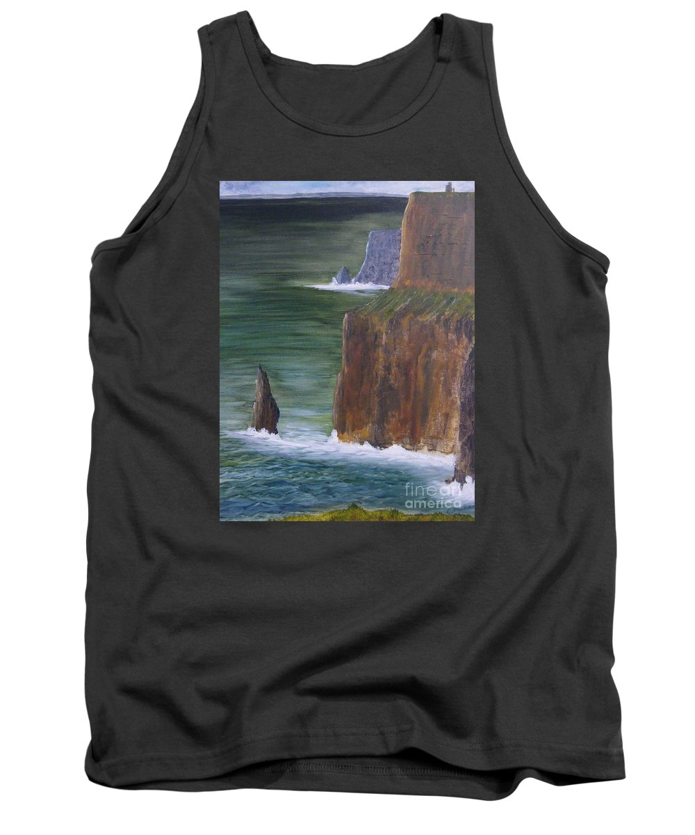 Cliffs Of Moher Tank Top featuring the painting The Cliffs Of Moher by Chris Murray