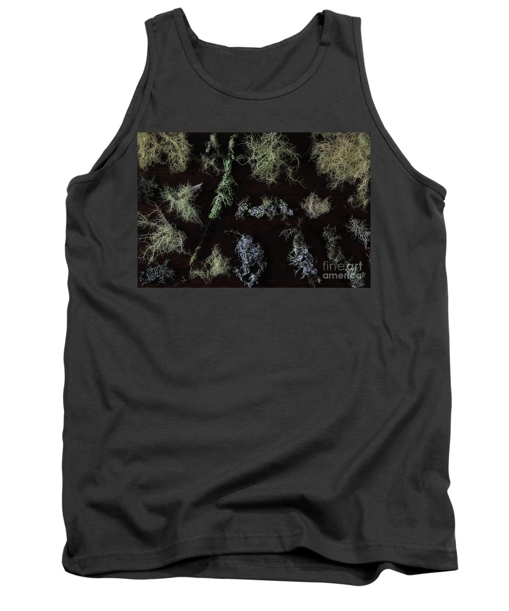 Lichen Tank Top featuring the photograph The Collection Of Lichens by Masako Metz