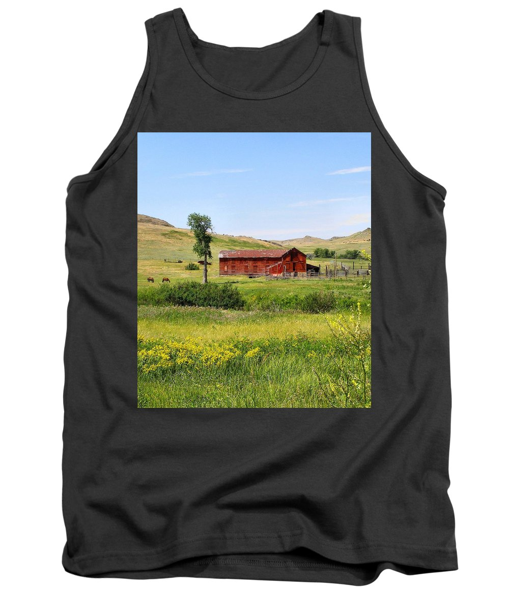 Montana Tank Top featuring the photograph The Color Of Montana by Susan Kinney