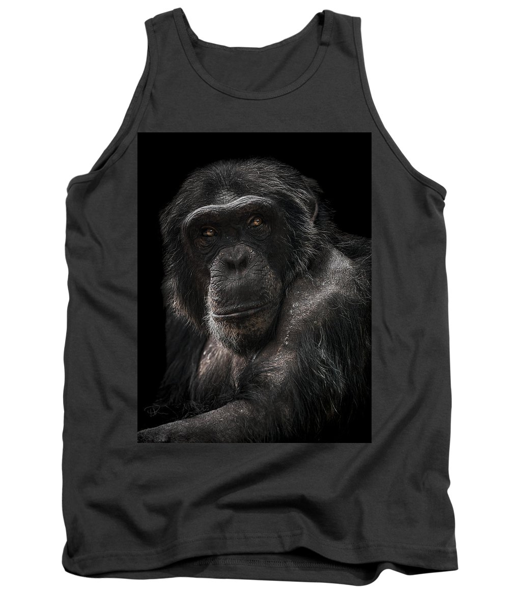 Chimpanzee Tank Top featuring the photograph The Contender by Paul Neville