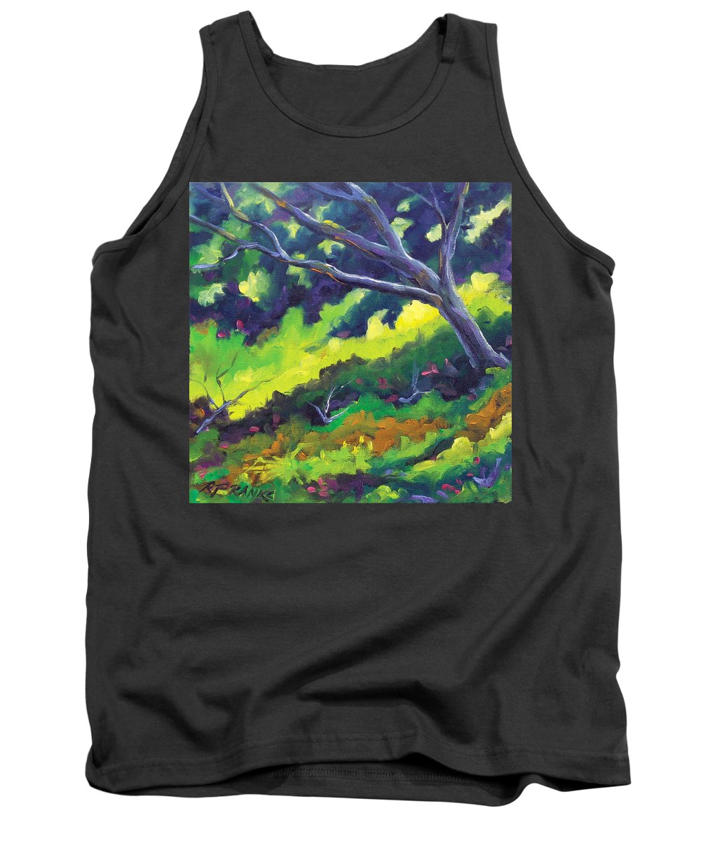 Art Tank Top featuring the painting The Cool Shade by Richard T Pranke