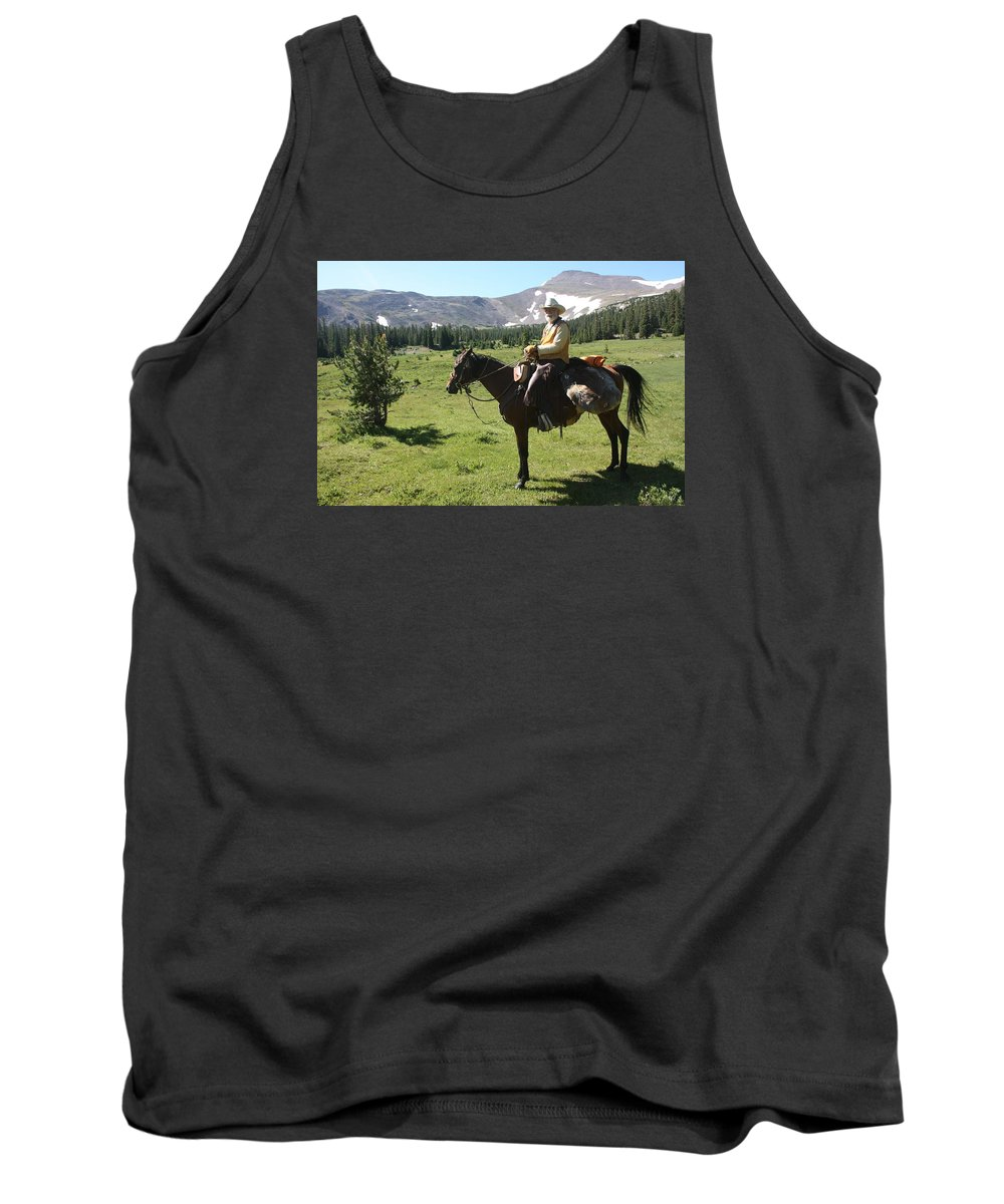 Cowboy Tank Top featuring the photograph The Cowboy #5 by Gary Coles