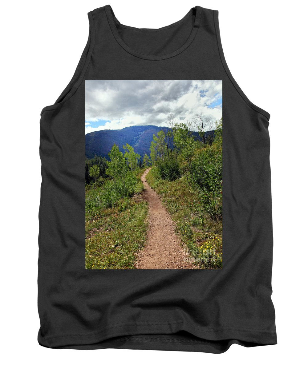 Path Tank Top featuring the photograph The Crooked Path by Madeline Ellis