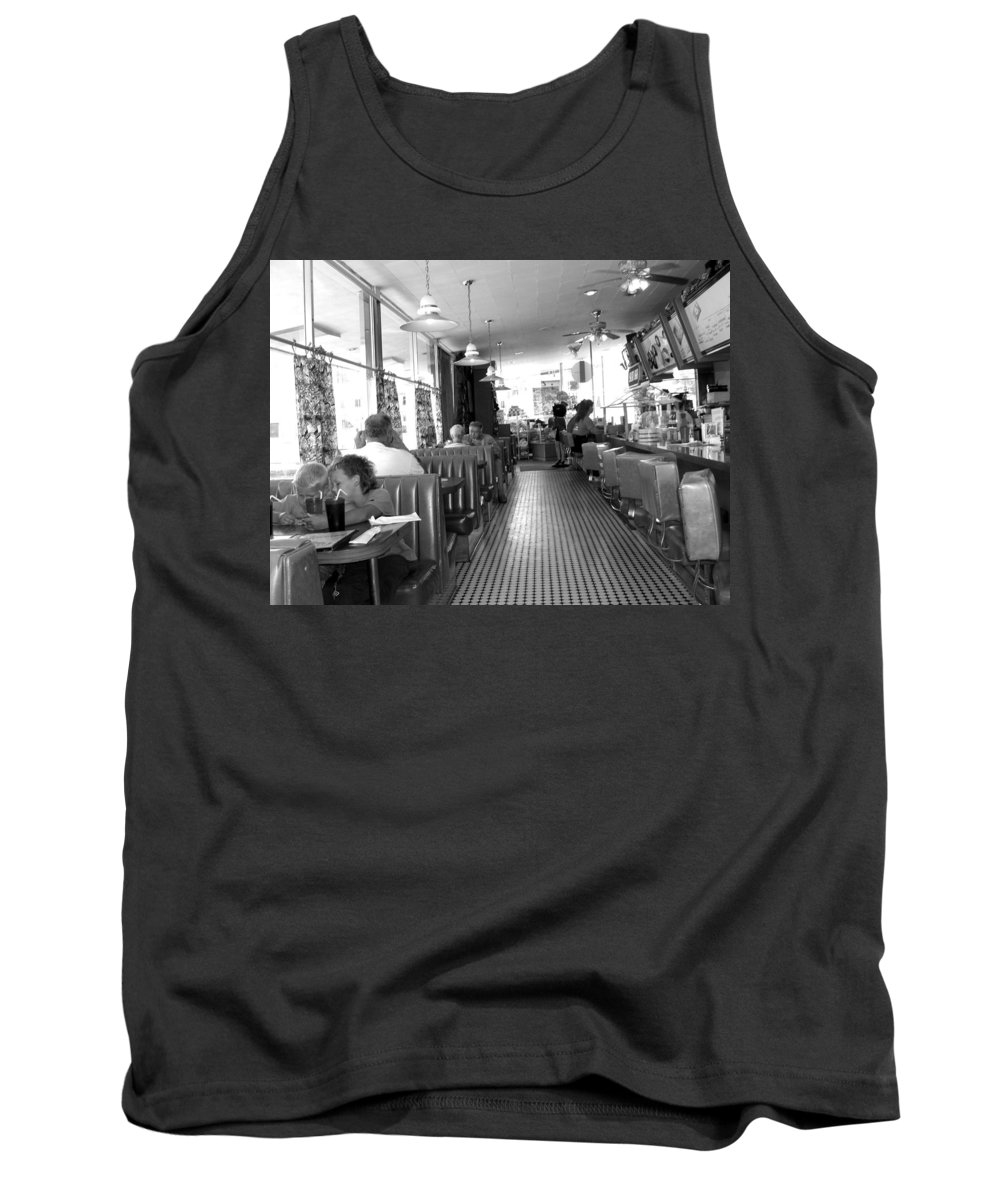 Diner Tank Top featuring the photograph The Diner by Wayne Potrafka