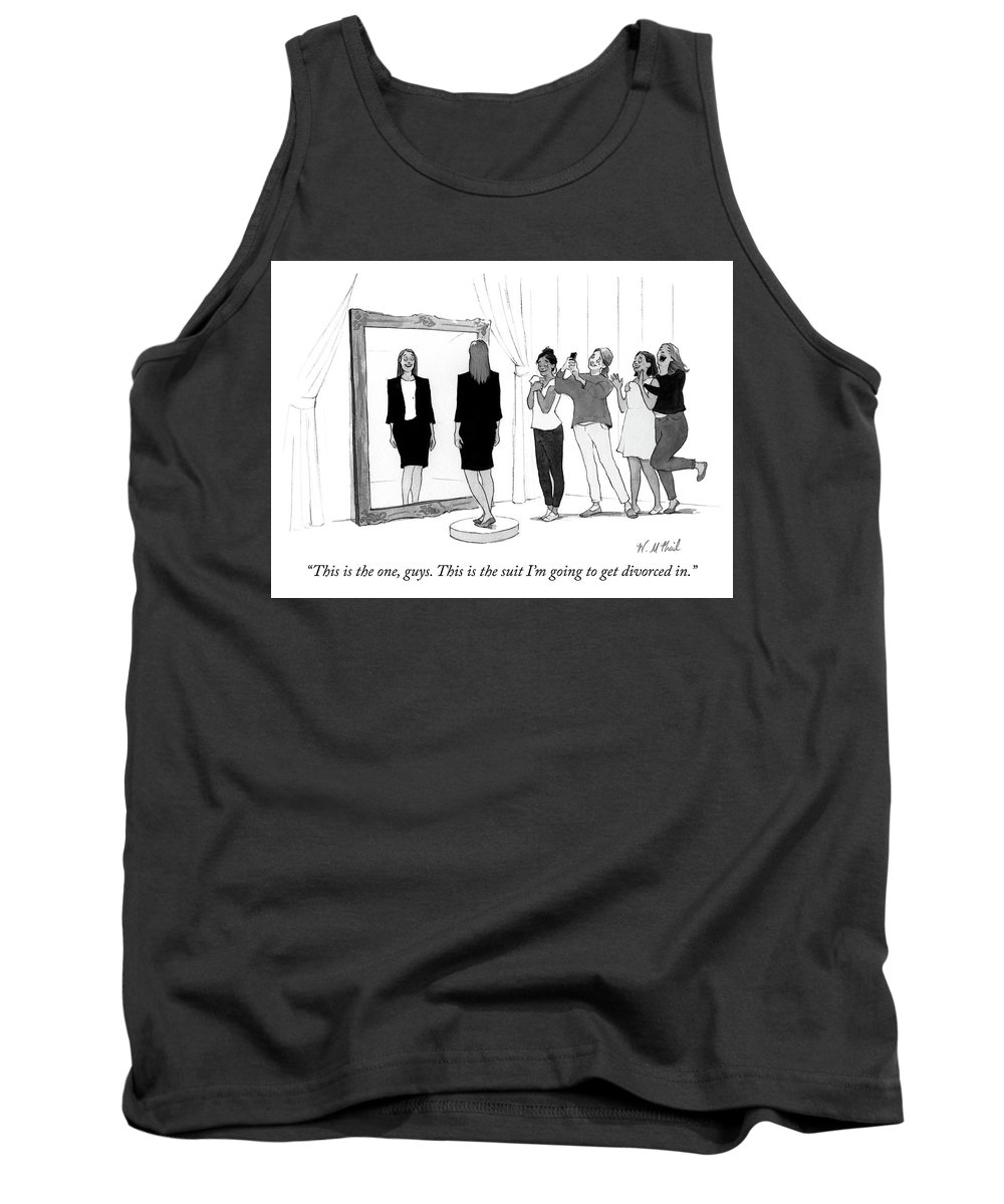 """""""this Is The One Tank Top featuring the drawing The Divorce Suit by Will McPhail"""