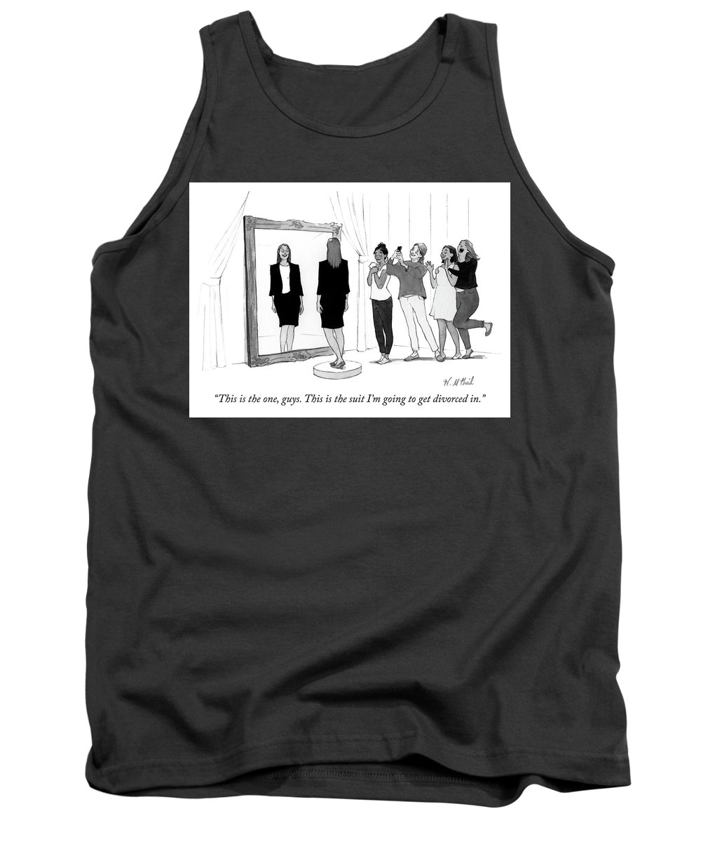 """this Is The One Tank Top featuring the drawing The Divorce Suit by Will McPhail"