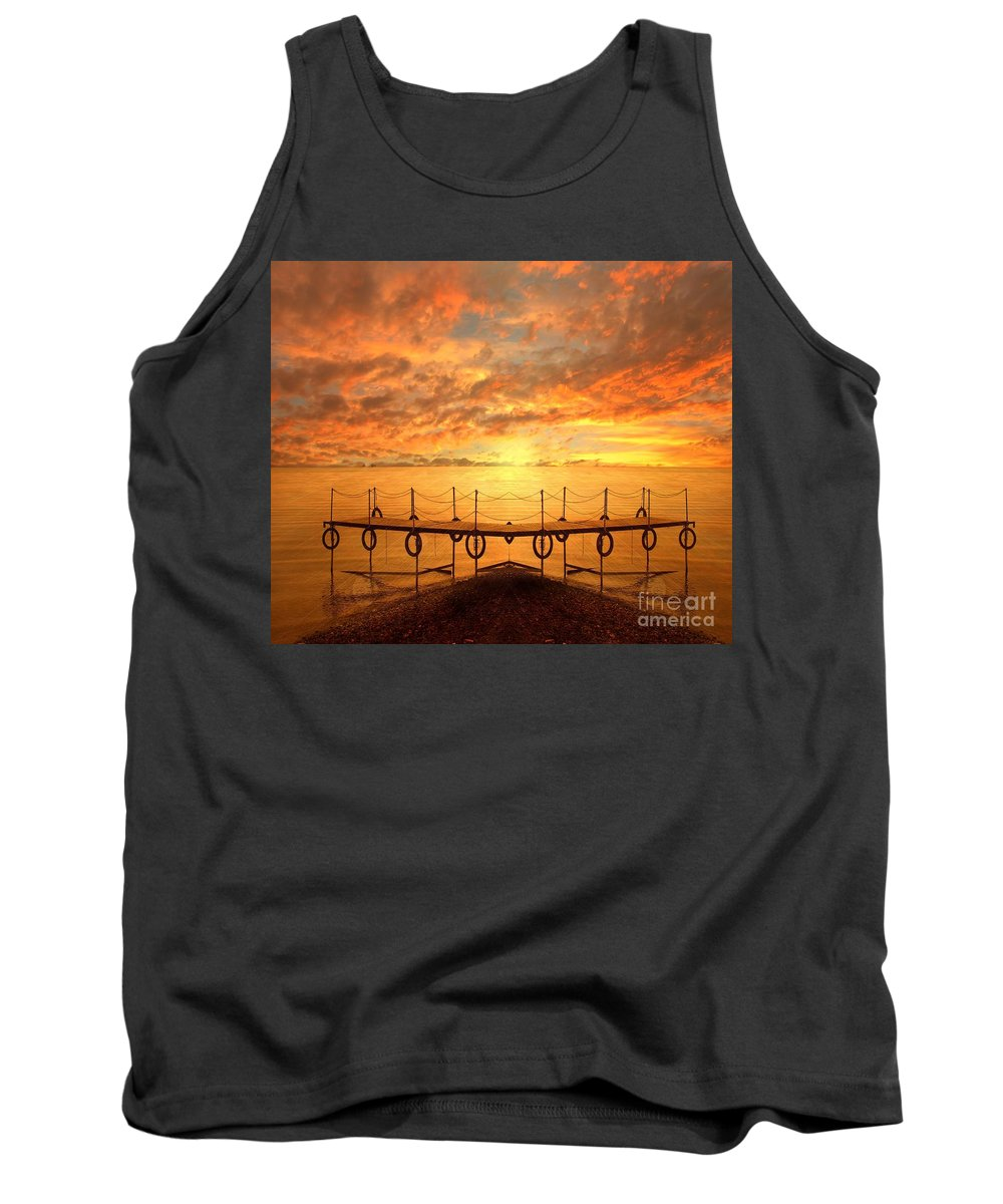 Waterscape Tank Top featuring the photograph The Dock by Jacky Gerritsen