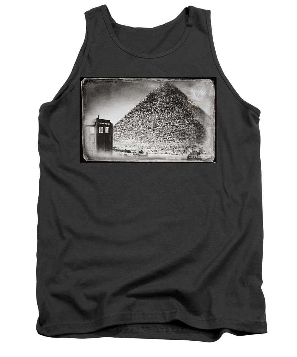 Doctor Who Tank Top featuring the digital art The Doctor Travels by Robert Radmore