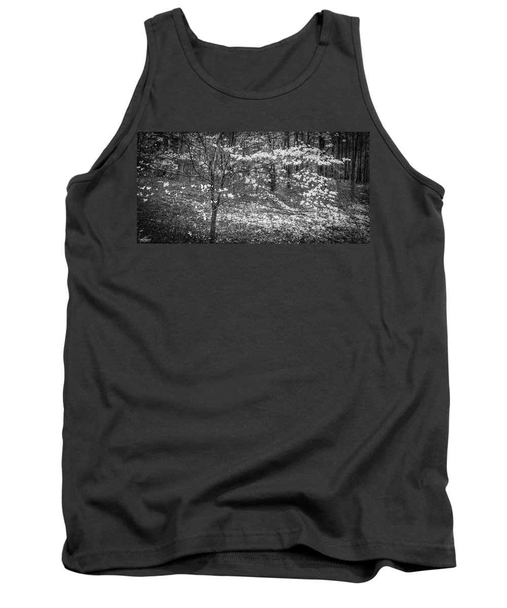 Dogwood Tank Top featuring the photograph The Dogwoods Are Blooming It Must Be Spring. by Philip Rispin