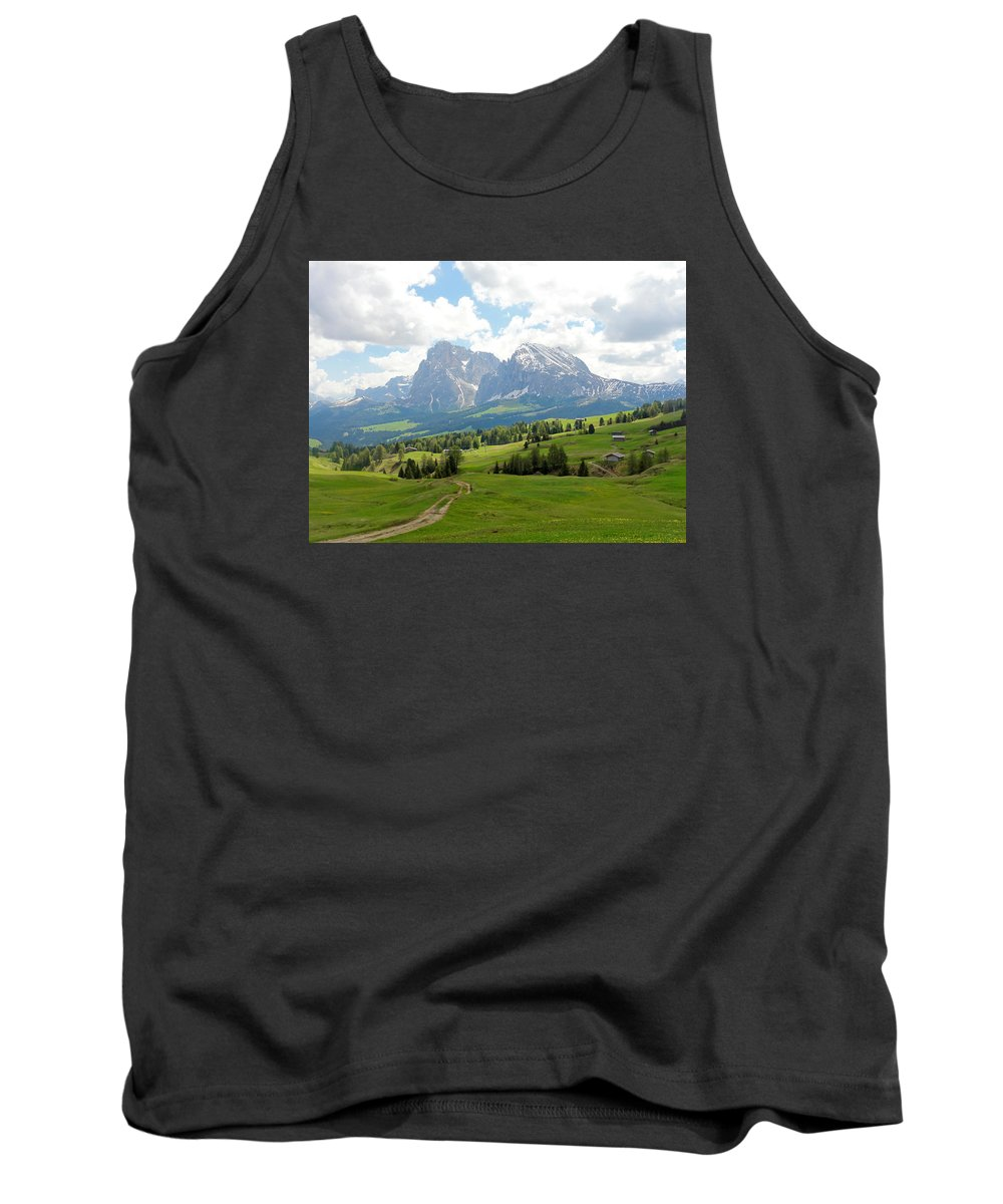 The Dolomites Tank Top featuring the photograph The Dolomites, Italy by Charmaine Anderson