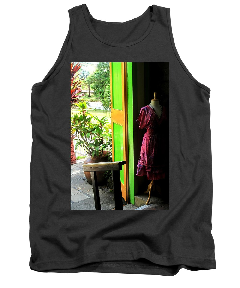 Dress Tank Top featuring the photograph The Dress Store by Ian MacDonald