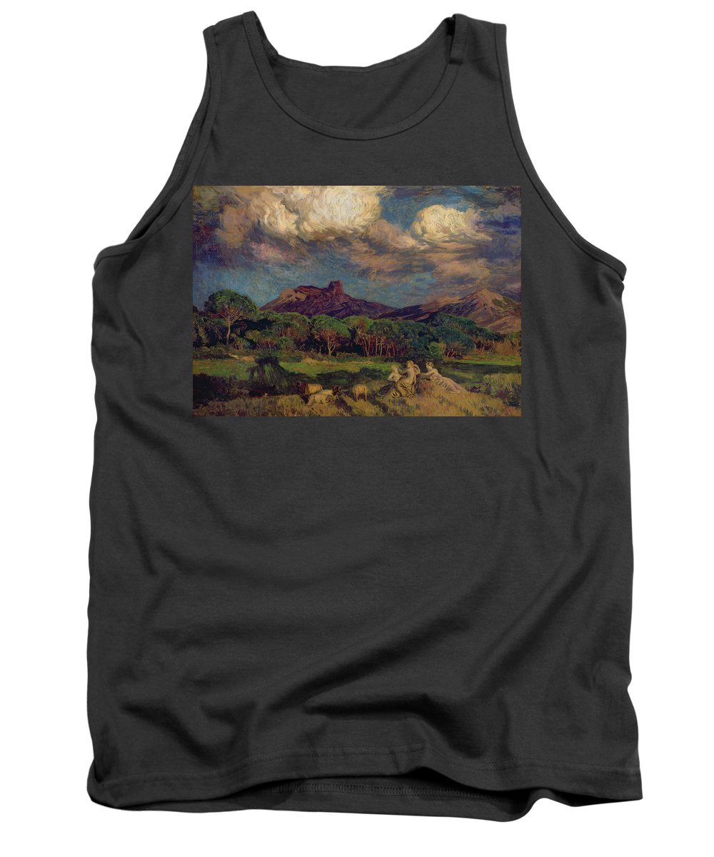 The Tank Top featuring the painting The Dryads by Marie Auguste Emile Rene Menard