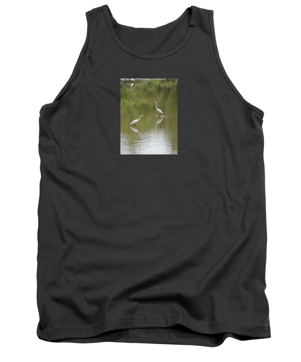 Egrets Tank Top featuring the photograph The Egret Pond by J R  Seymour