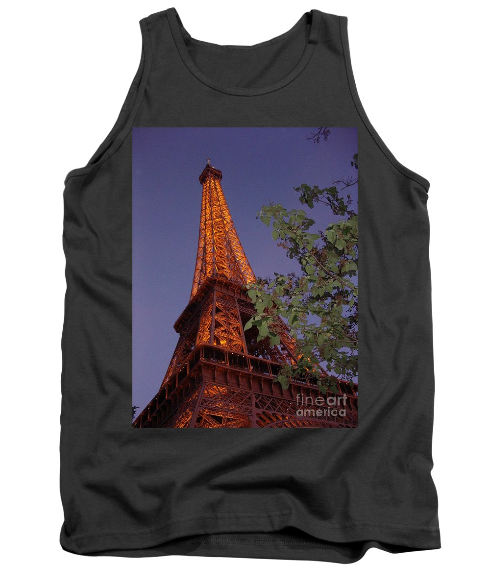 Tower Tank Top featuring the photograph The Eiffel Tower Aglow by Nadine Rippelmeyer