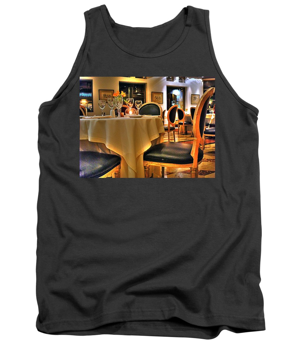 Chair Tank Top featuring the photograph The Empty Chair by Francisco Colon