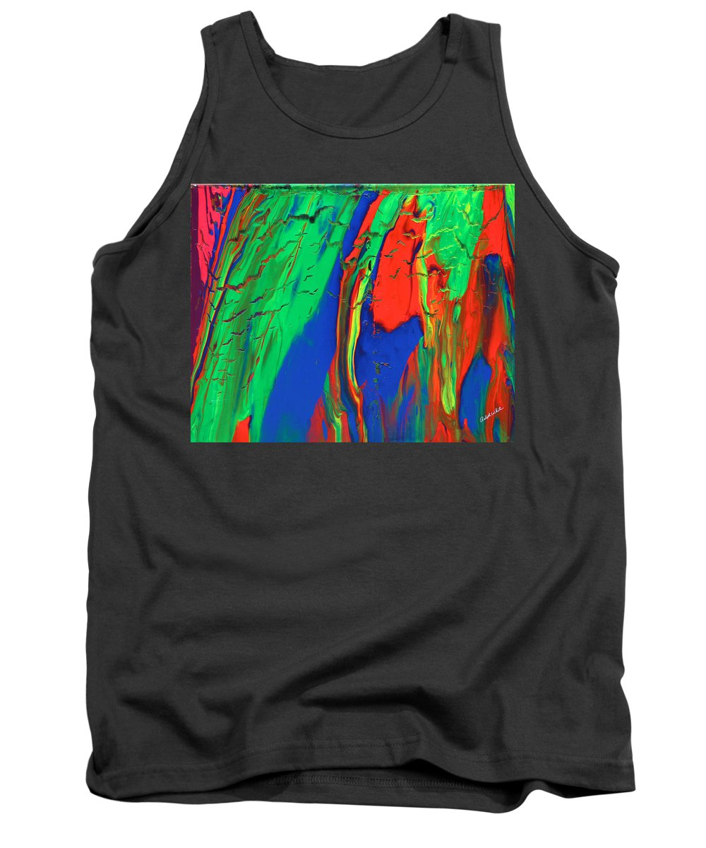 Fusionart Tank Top featuring the painting The Escape by Ralph White