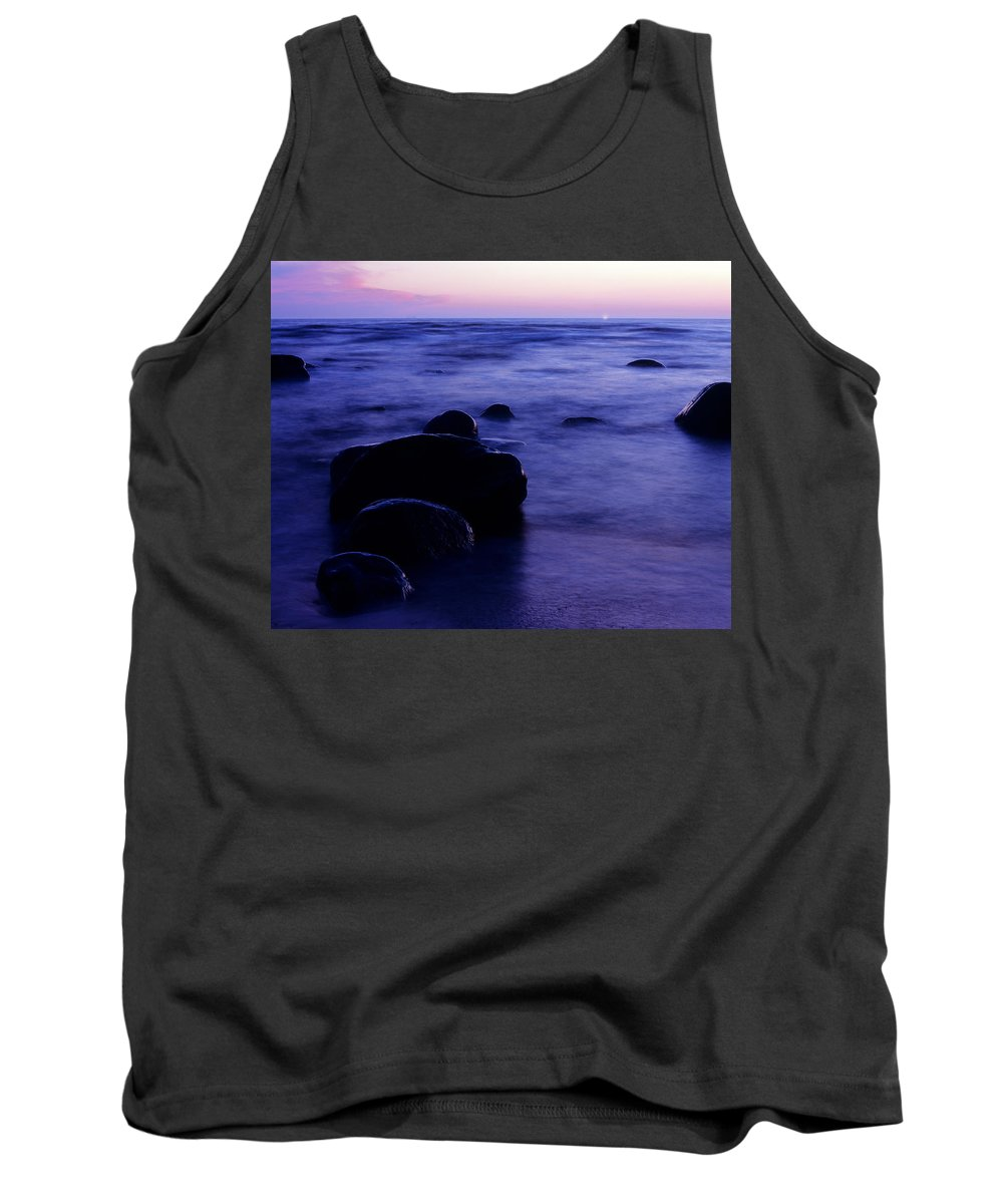 Abstract Tank Top featuring the photograph The Evening by Konstantin Dikovsky